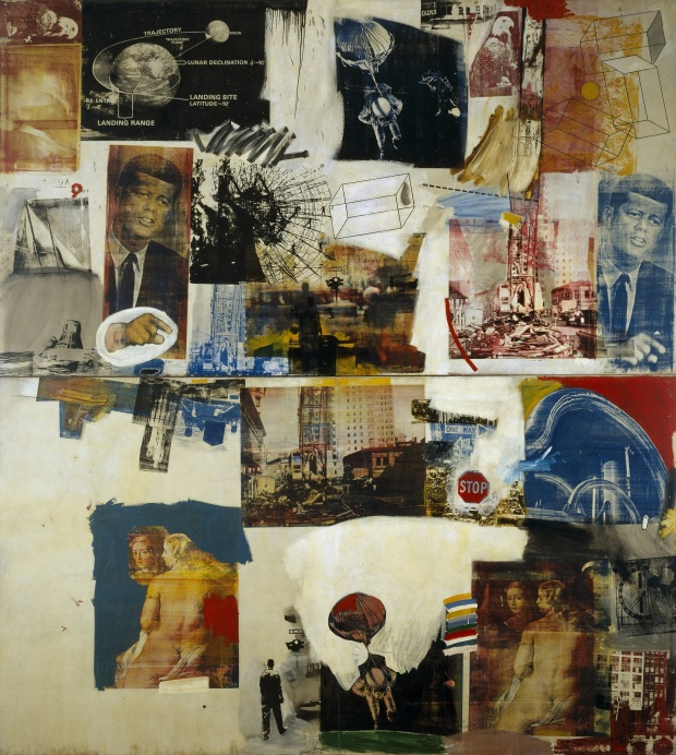 Skyway, 1964 Robert Rauschenberg - Oil and silkscreen on canvas Dallas Museum of Art, The Roberta Coke Camp Fund, The 500, Inc., Mr. and Mrs. Mark Shepherd, Jr., and General Acquisitions Fund © Rauschenberg Estate/Licensed by VAGA, New York, NY.